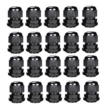 //étanche IP68/Compression M8/M12/M16/M20/M24/M24/Noir ou blanc Sucre auxiliaire/® presse-/étoupes/ Noir M8 1