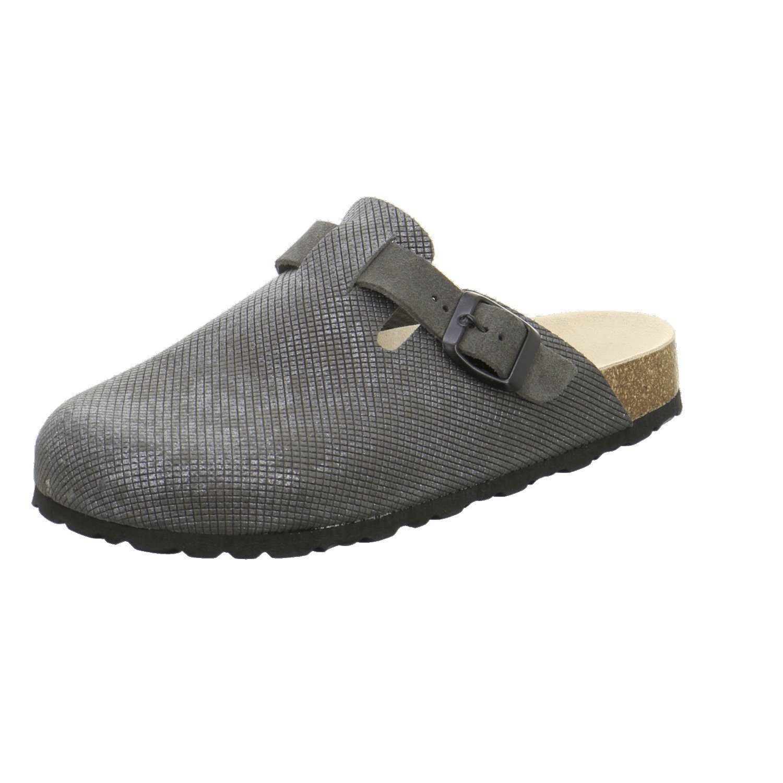 AFS-Schuhe 290034 - Zuecos de Piel para Mujer, Color Gris, Talla 36 EU