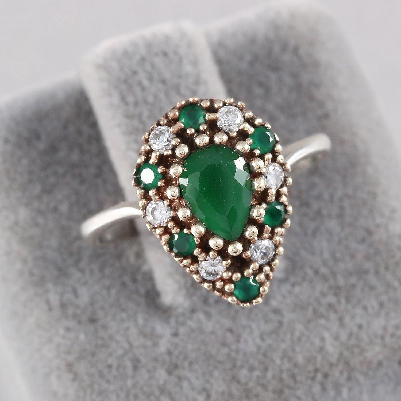 Turkish Handmade Jewelry 925 Sterling Silver Multi Stone Ladies/' Ring Sz 8