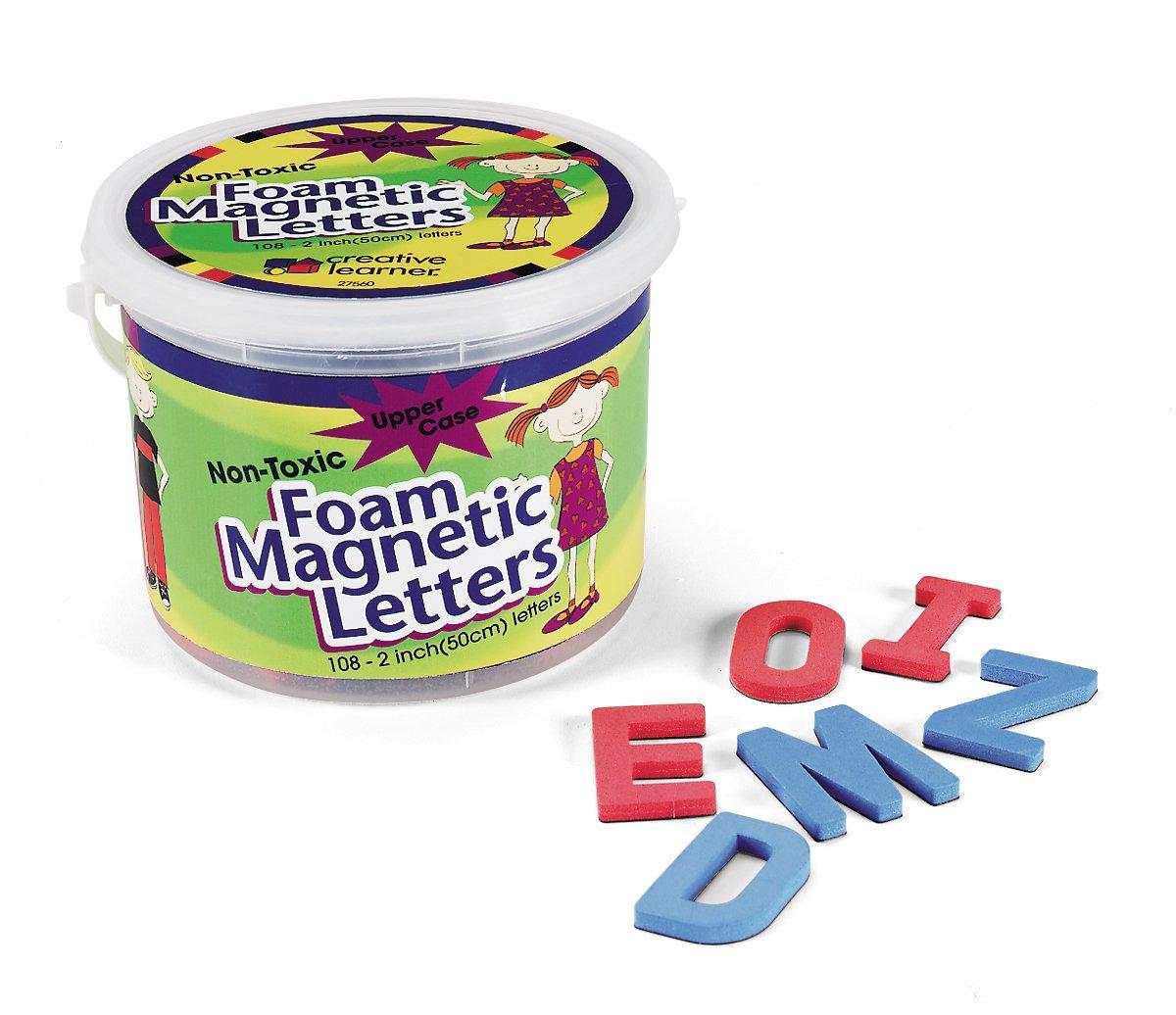 PaconPacon Corporation Magnetic Alphabet Letters, Foam, Upper Case, 2'', 108 (PAC27560)