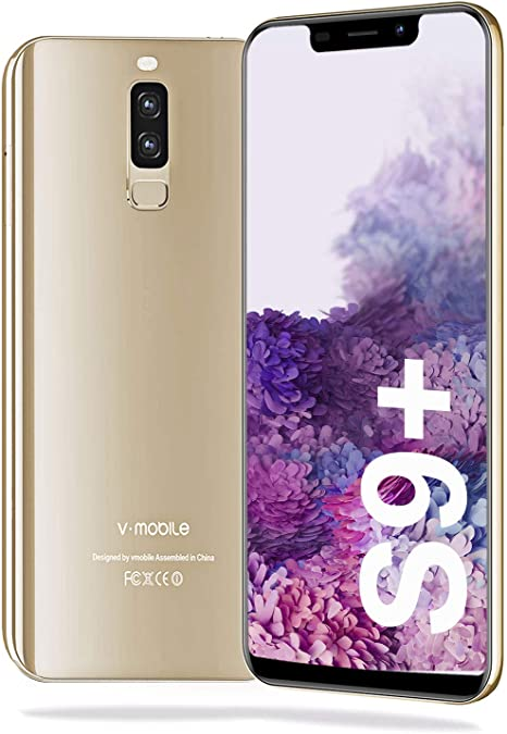 Moviles Libres Barats y Buenos 4G 5.84 Pulgadas S9 Plus(2020) Android 8.1 Telefono Movil Libre 3GB+16GB/128GB ROM Smartphone Libre Android 8.1 4300 mAh 13MP Moviles Libres Bueno GPS Face ID (Champán): Amazon.es: