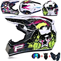 JCLDG Carretera Moto Casco Adulto Motocross Casco Off-Road