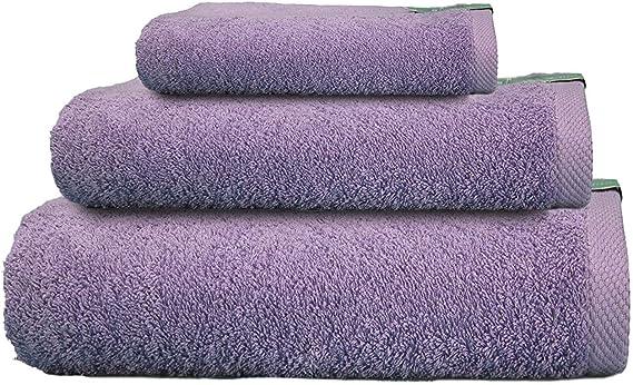 Cabetex Home - Juego de Toallas 100% Algodón Peinado - 550 Gr/m2 - Tres Piezas - Toalla de baño, Lavabo y Tocador (Lila): Amazon.es: Hogar