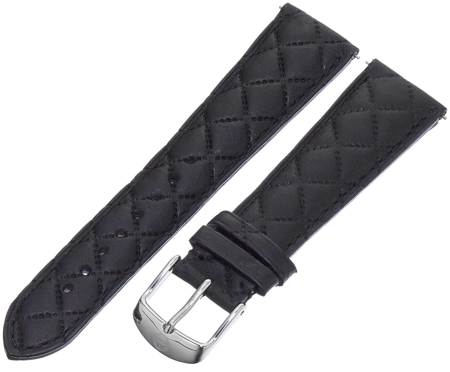 MICHELE MS20AB370001 20mm Leather Calfskin Black Watch Strap
