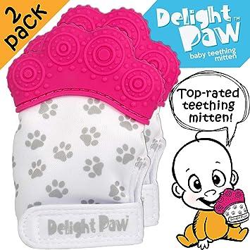 Comforter Comforting Teething Toy Cute Panda Teether Mitts BPA Free Baby Teething Glove Teething Mittens for Babies Pacifier