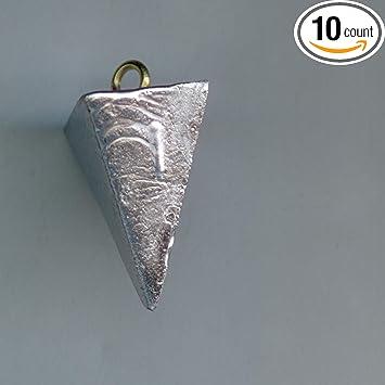 2 1//2 Oz Pyramid Fishing Sinker lot of 10