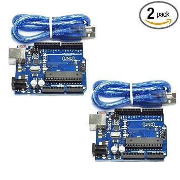 Amazon.com: hiletgo 2pcs uno r3 ATmega 328P ATmega 16U2 ...