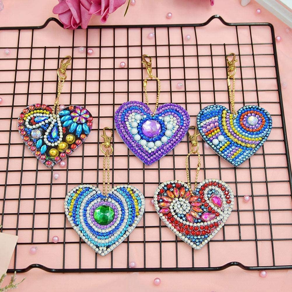 DIY Full Special-Shaped Diamond Painting Bag Craft Decor Pendant Keychains