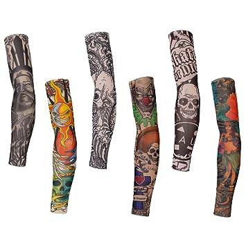 gazechimp 6pcs mango falso tatuaje couvre brazo Gemelos mallas ...