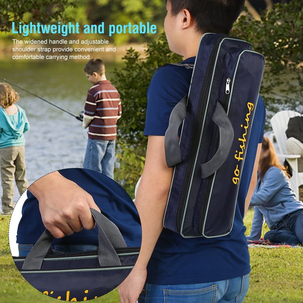 2Layer 120//150cm Angeltasche Rucksack Angelrute Reel Tackle Carrier Bag WA C2L4