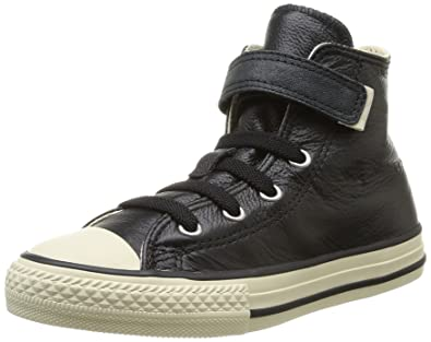 661feb687642a7 Converse Unisex-Child Chuck Taylor All Star Junior Strap HI Trainers 384550  8 Black