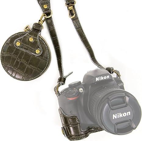 MegaGear MG1046 Estuche para cámara fotográfica Estuche Duro Verde: Amazon.es: Electrónica