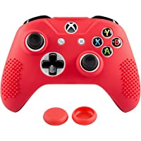 Xbox One S / X Funda Silicona + 2 Grips Texturizados (Roja)