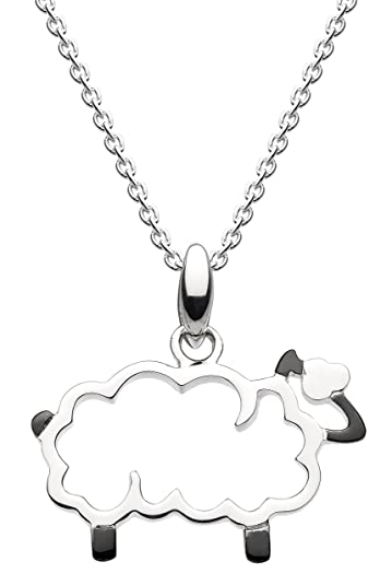 Dew Sterling Silver Open Heart Necklace of Length 45.7 cm CnCSF9MTZf