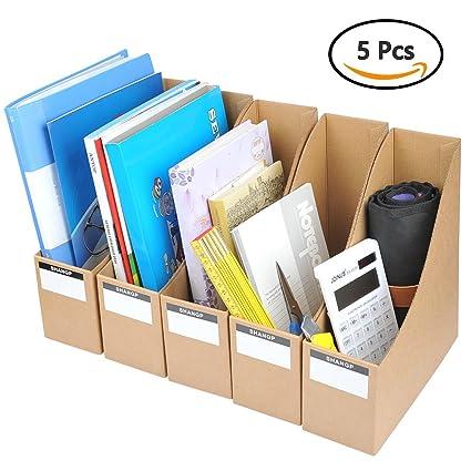 Cardboard Magazine Holders Fascinating Amazon YOTINO Magazine Holder 60pcs Corrugated Cardboard File