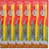Colgate Junior Childrens Bunny Toothbrushes - Pack of 6