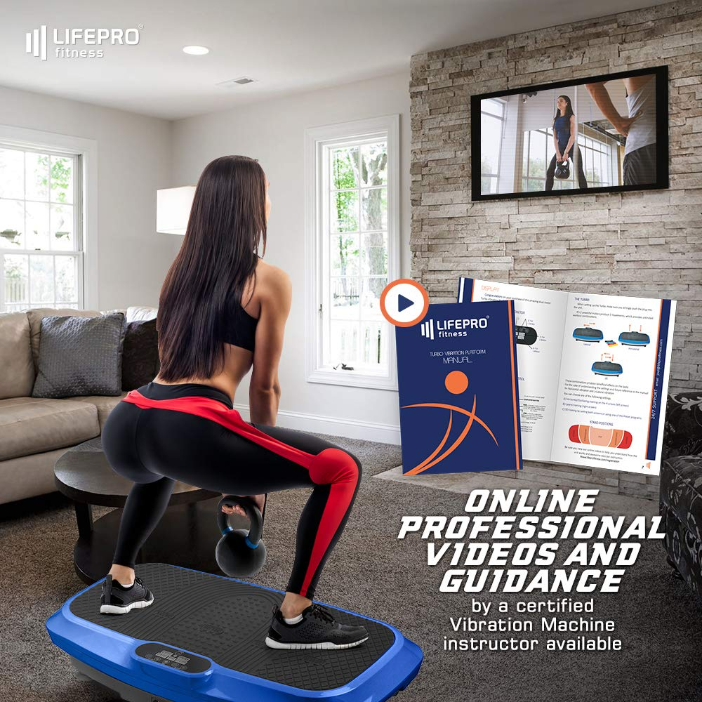 LifePro 3D Vibration Plate Exercise Machine - Dual Motor Oscillation, Pulsation + 3D Motion Vibration Platform   Full Whole Body Vibration Machine for Home Fitness, Weight Loss, Toning & Shaping. by LifePro (Image #6)