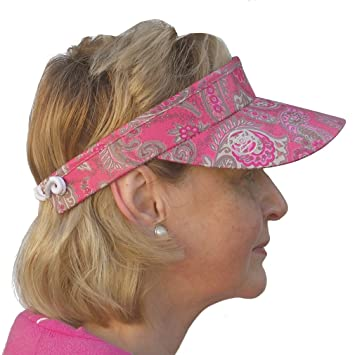 Daily Sports Ladies Flexi Cord Golf   Tennis Sun Visor in Red Grape Paisley  Print  Amazon.co.uk  Sports   Outdoors 893ea78bed0
