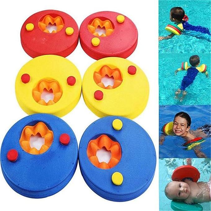 GZQ 6 pcs Manguitos de Natación para Niños, Discos Flotantes,Flotador de Brazo de Espuma EVA para Bebé,: Amazon.es: Juguetes y juegos