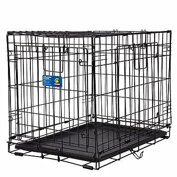 Amazon Top Paw Double Door Wire Dog Crate Black 24l X 18w
