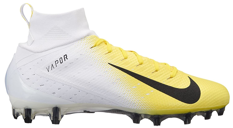 NIKE Vapor Untouchable Pro 3 Mens Football Cleats B07DJTYVWY 12.5 D(M) US|White/Black-dynamic Yellow-black