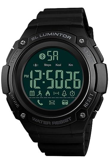 Reloj digital para hombre con Bluetooth, reloj inteligente deportivo, casual, militar, LED