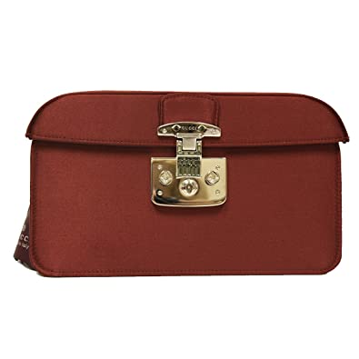 080b5797638 Amazon.com  Gucci Lady Lock Red Satin Evening Clutch Bag 331825  Shoes