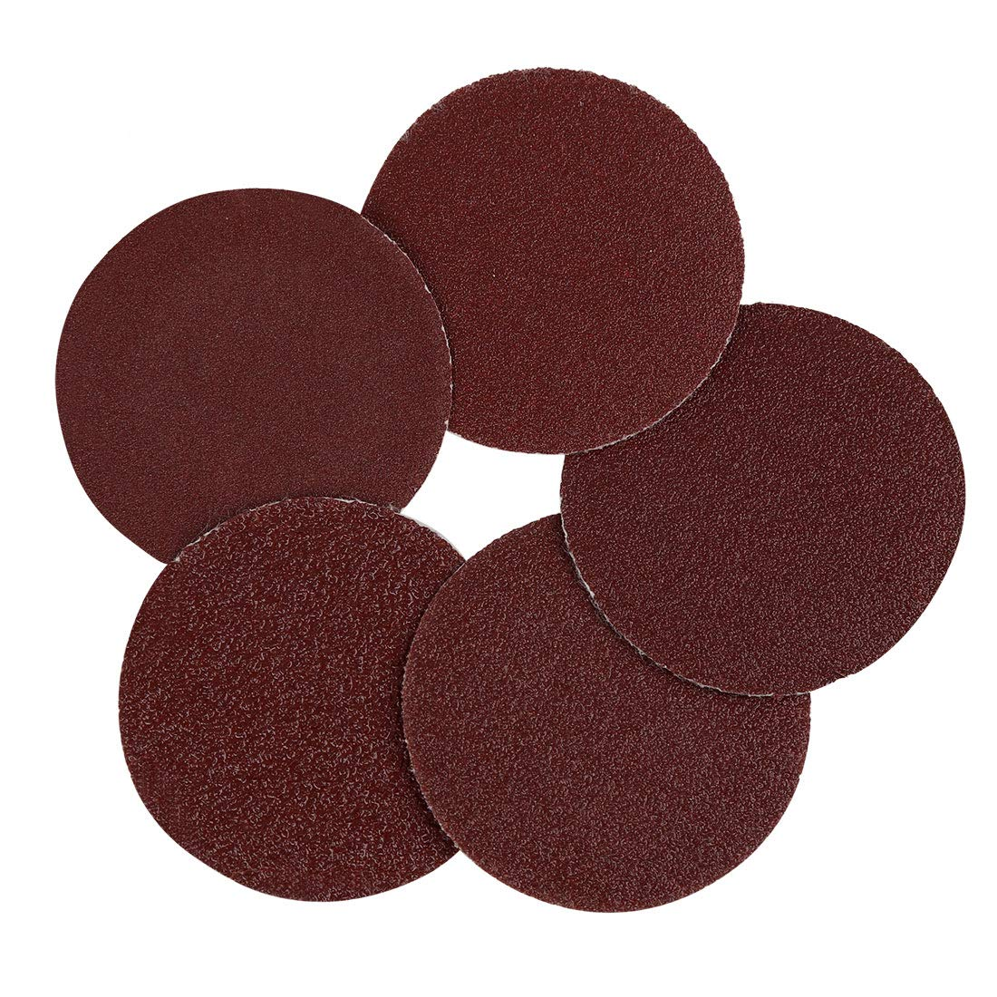 uxcell 50pcs 2 Inch Hook and Loop Sanding Discs 60 80 100 120 150 Assorted Grits Sandpaper