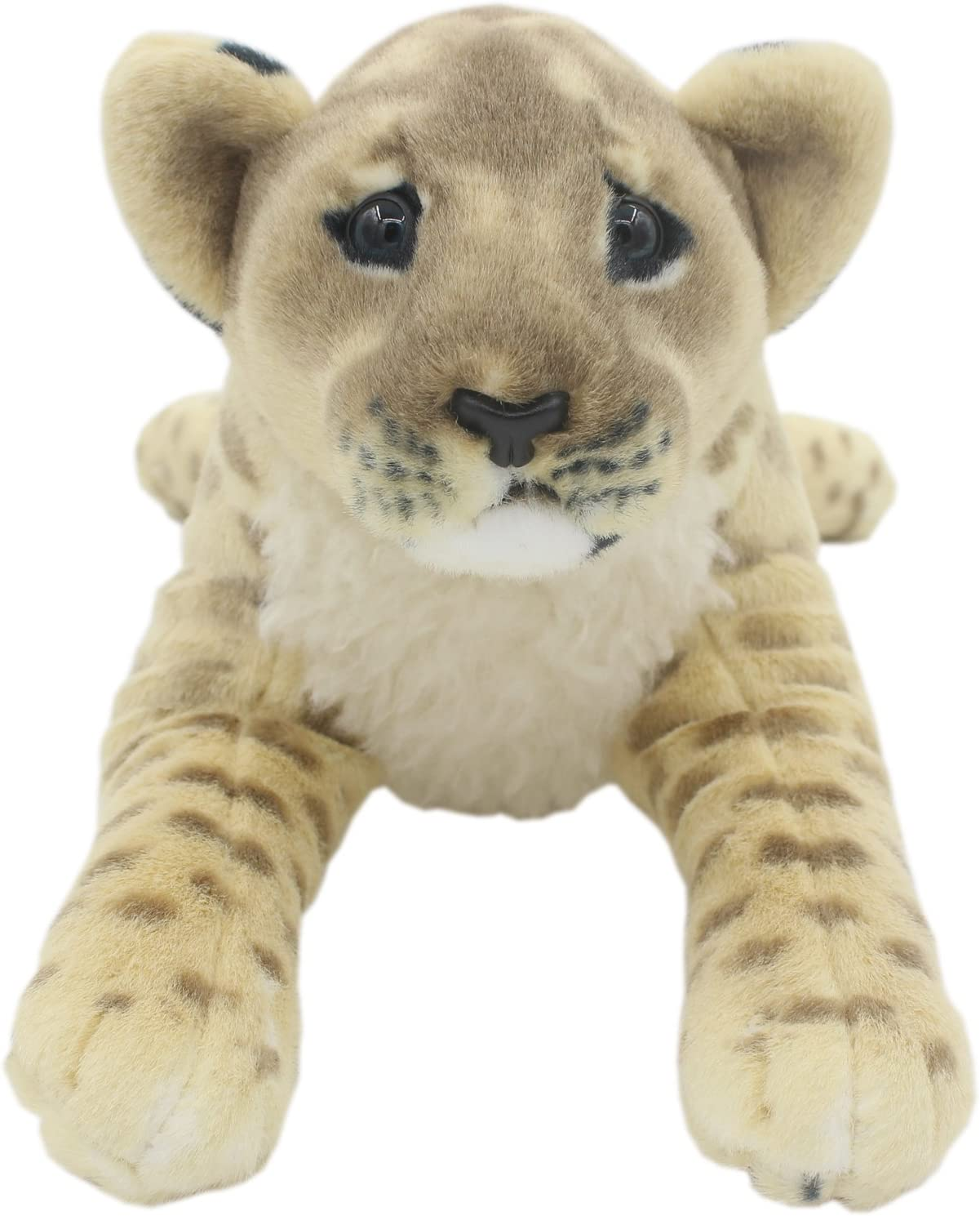 TAGLN The Jungle Animals Stuffed Plush Toys Lion Tiger Leopard Panther Pillows (Brown Lioness, 16 Inch)