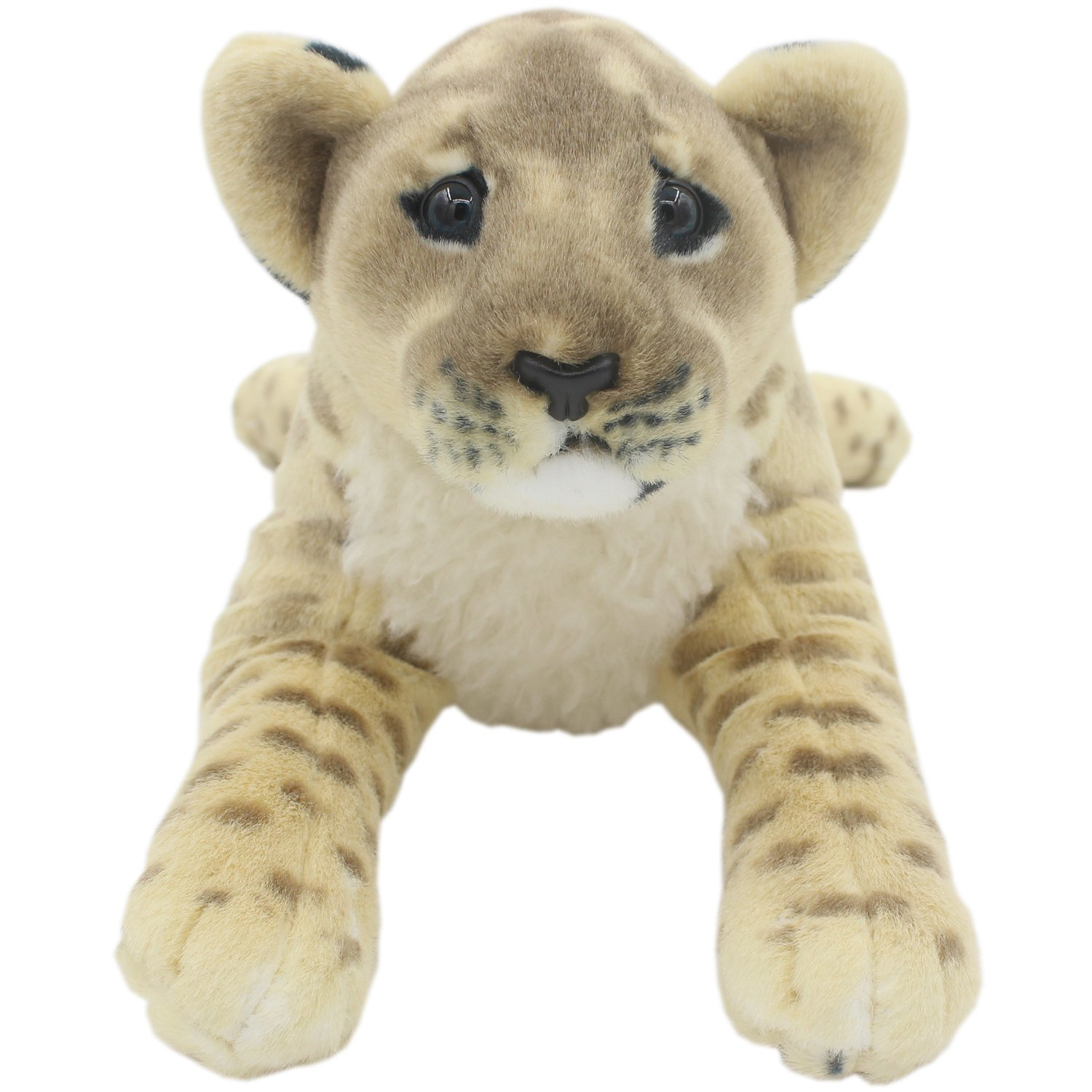 TAGLN Realistic Stuffed Animals Toys Lion Plush Tiger Leopard Panther Pillows (Brown Lioness, 19 Inch) by TAGLN