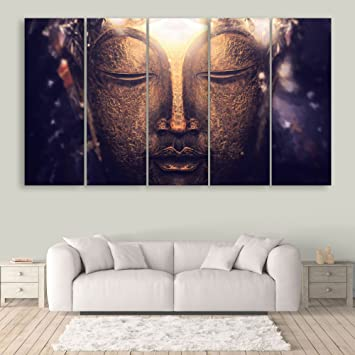Inephos Multiple Frames Beautiful Buddha Wall Painting For Living Room,  Bedroom, Office, Hotels