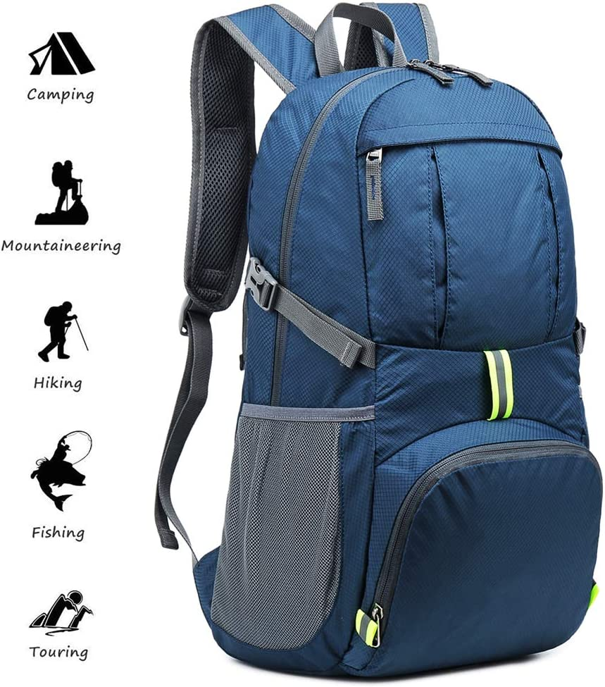 Netspower Ultra Lightweight Backpack Foldable Hiking Daypack Rucksack Water Travel Day Bag for outdoor Camping Mountaineering Walking Cycling Climbing School Sports