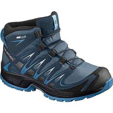 sports shoes 872e5 2e832 SALOMON XA Pro 3D Mid CSWP J, Chaussures de Randonnée Hautes Garçon, Bleu (