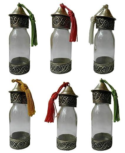 Nuevo vidrio decorativo botella de champú de cosmética especias marroquí Perfume