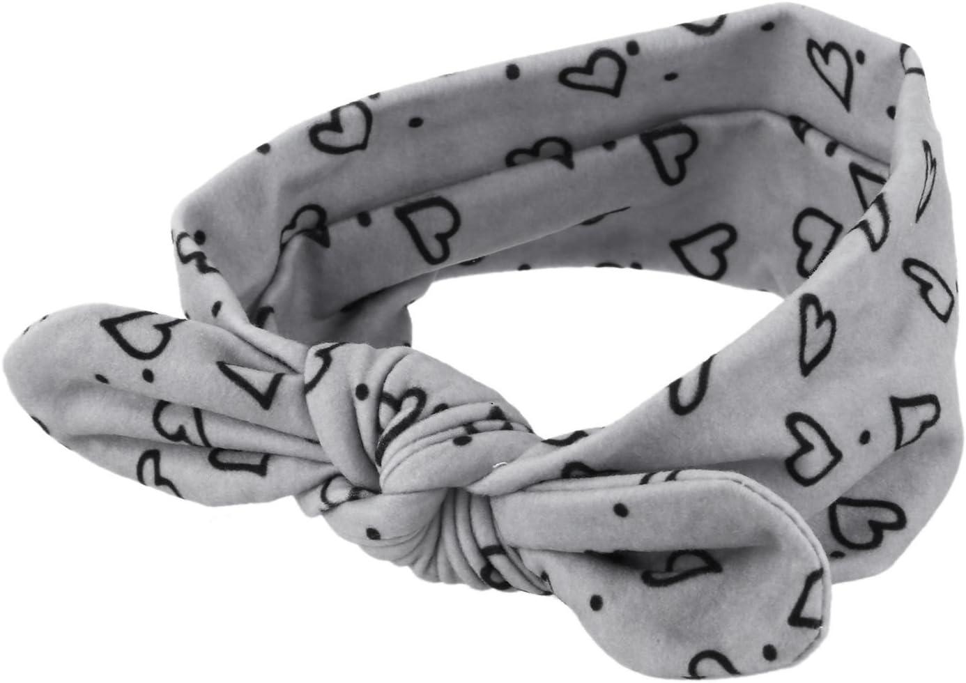 Diadema lazo de corazon elastico de orejas de conejo para bebe Yebobo Banda de pelo