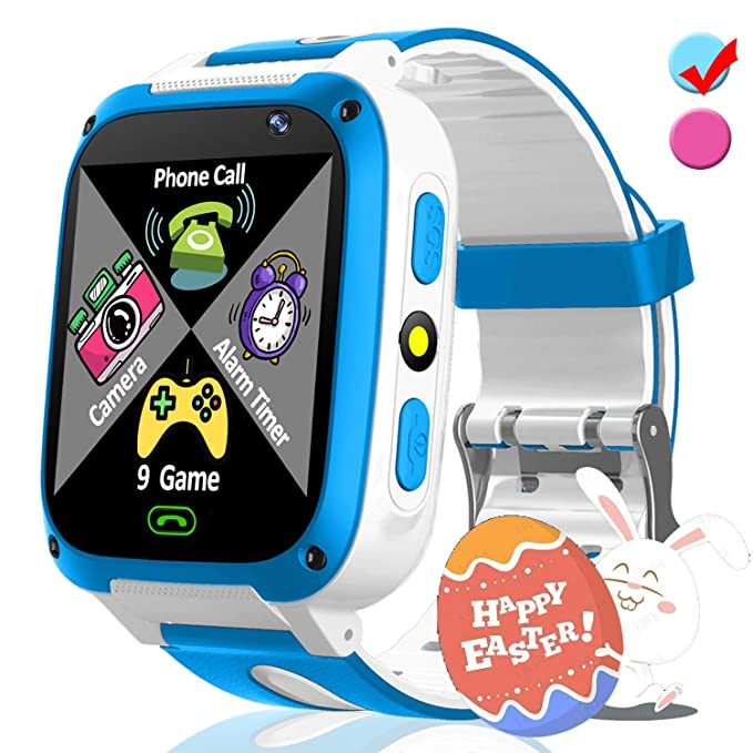 Kids Smart Phone Watch with 9 Puzzle Game SOS for Girls Boys Holiday Birthday Toys Gifts Game Watch 1.54 HD Screen 2 Way Call Camera SOS Flashlight ...