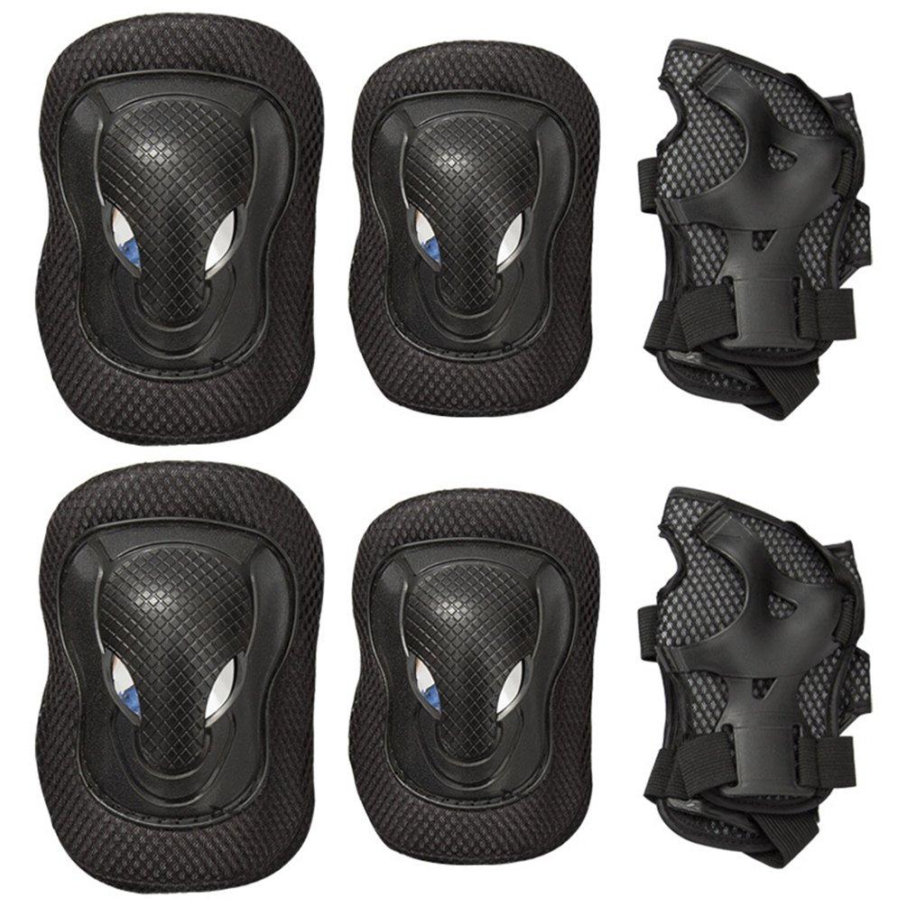 nacola 6pcs大人用膝パッド肘パッド手首ガード保護ギアセットスケートボード用Skatingsスクーター