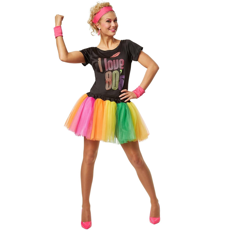 dressforfun Disfraz para mujer de estrella del pop de los años 80 ...