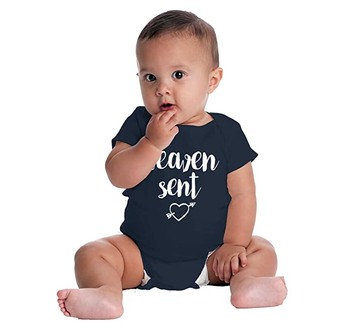 Brisco Brands Heaven Sent New Parents Christian Baby Gift Cute Funny Saying Romper Bodysuit
