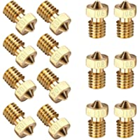 EAONE 14PCS M6 3D Printer 0.2mm 0.3mm 0.4mm 0.5mm 0.6mm 0.8mm 1.0mm Extruder Brass Nozzle Print Head for 3D Printer Makerbot (2pcs/each size)