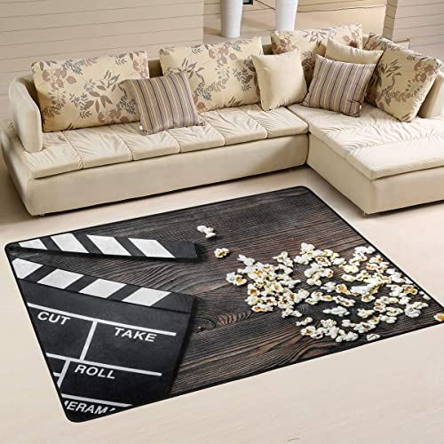 ALAZA Movie Clapboard Cinema on The Wooden Popcorn Area Rug