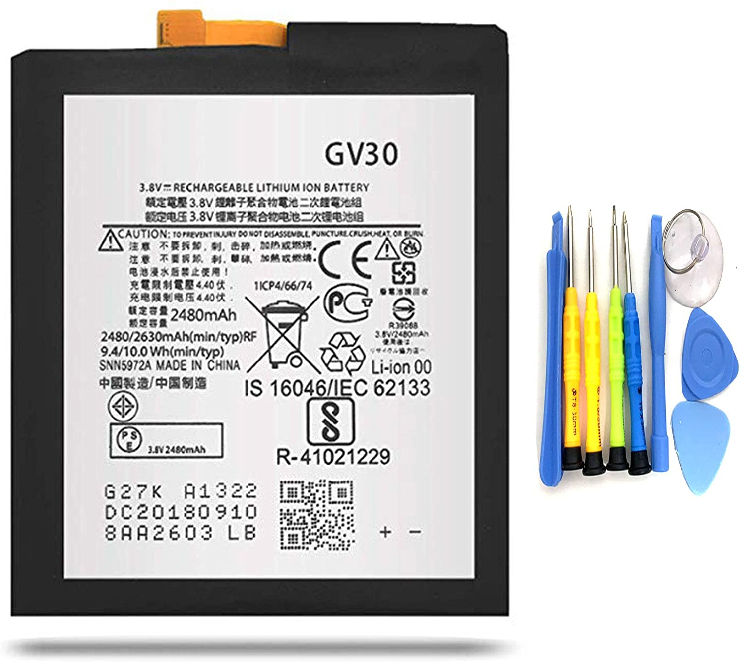 Tools FEMAI Compatible GV30 Battery Replacement for Motorola Moto Z Droid XT1650-01 XT1650-03 05 SNN5972A