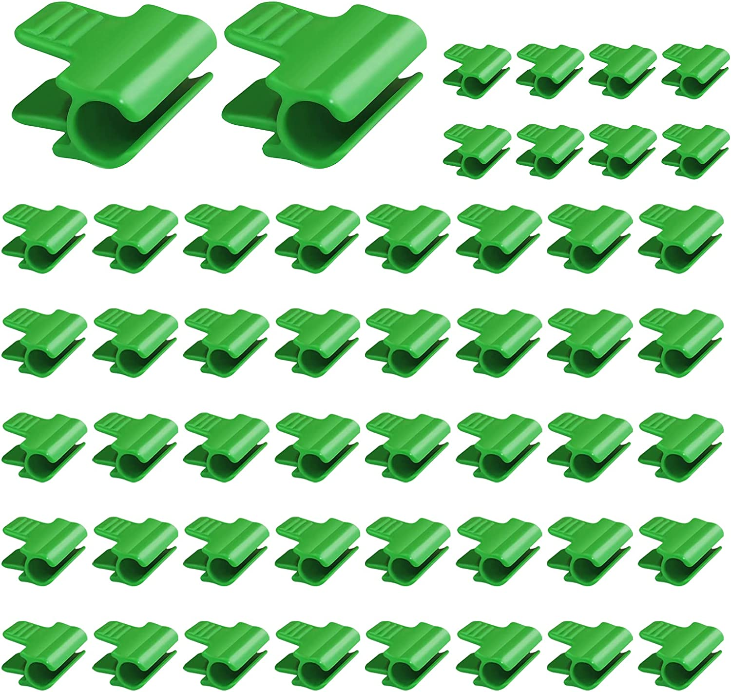 40 PCS Greenhouse Clamps Clips,11mm Film Row Cover Netting Tunnel Garden Hoop Pipe Clips Film Fixing Clamp ,Shading Net Rod Clip ,for Greenhouse Frame Shelters