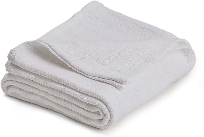 Set of 2 Hand Woven 100/% Cotton All Season Throw Blankets Chevron 50/'/'x 60/'/'