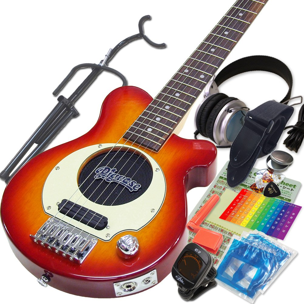 Pignose ピグノーズ PGG-200 CS チェリーサンバースト アンプ内蔵ミニギター15点セット [98765]【検品後発送で安心】  CS チェリーサンバースト B0135WU1JO