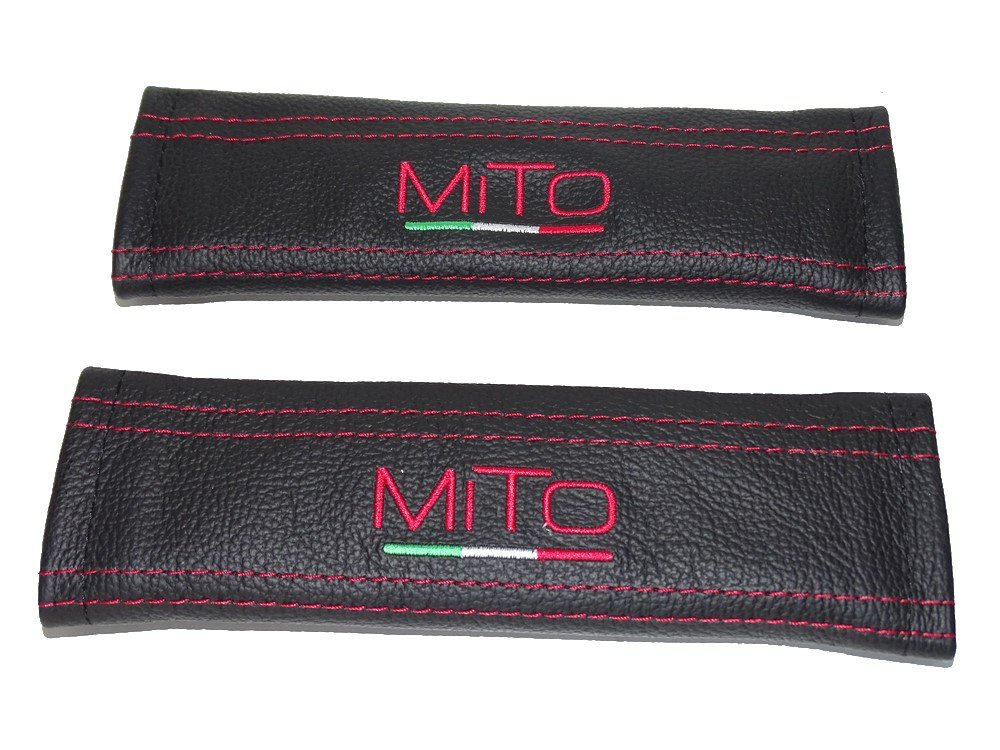 Cinture spalle coperture nero in pelle rossa mito ricamo The Tuning-Shop Ltd