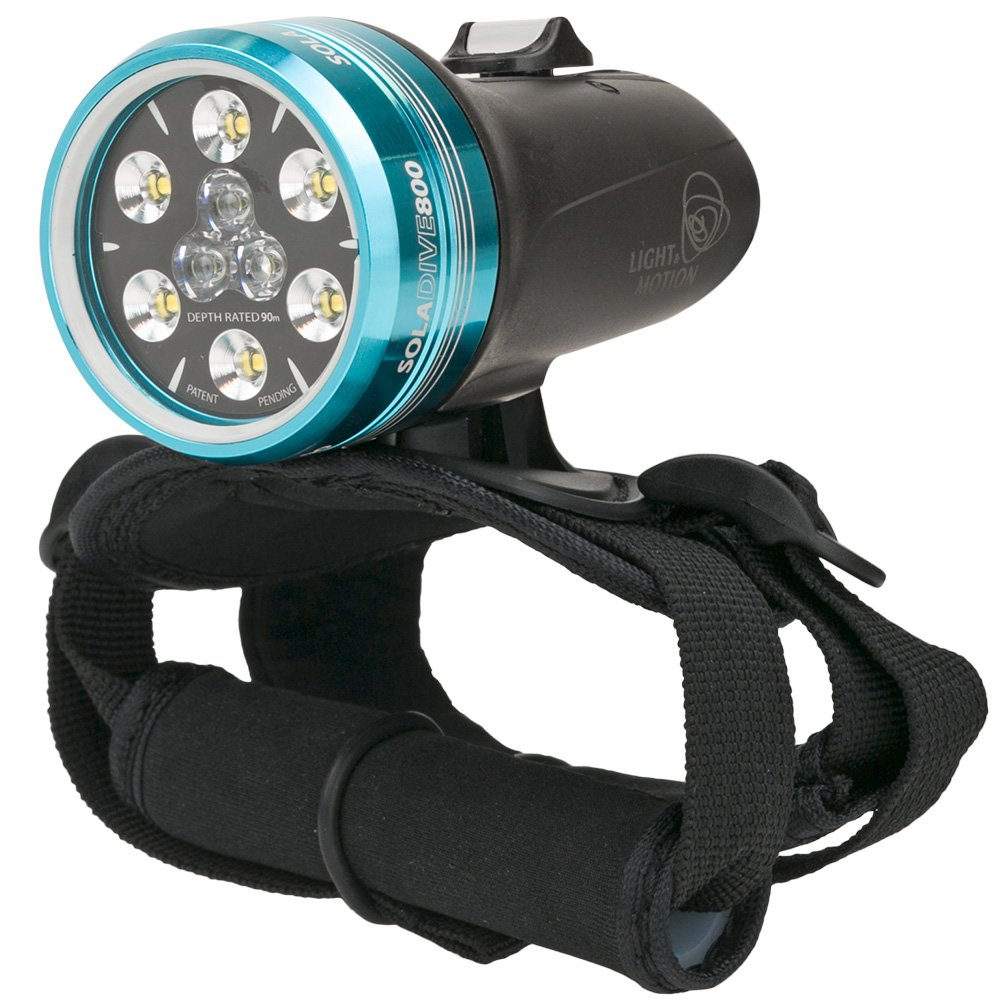 Light & Motion SOLA Dive 800 S/F Black Underwater Light by Light and Motion