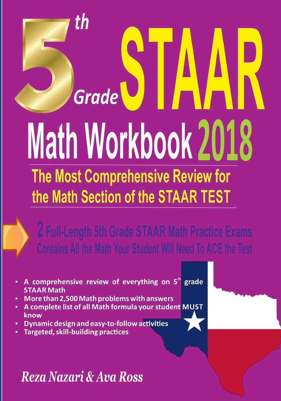 Download 5th Grade STAAR Math Workbook 2018: The Most Comprehensive Review for the Math Section of the STAAR TEST PDF
