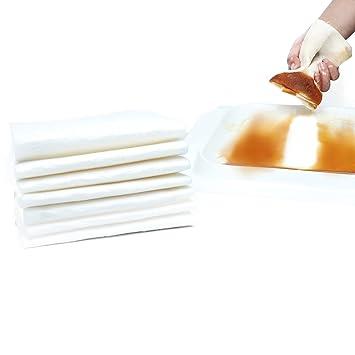 Favor belleza limpieza gamuza de plato estropajo con mango de madera, 18,1 x
