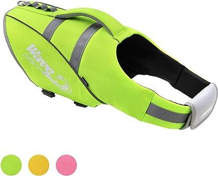 Surfen ubest Reflektierende Schwimmweste f/ür Hunde zum Schwimmen Kajakfahren Verstellbare Rettungsweste f/ür Hunde Bootfahren S//M//L//XL//XXL 3 Farben